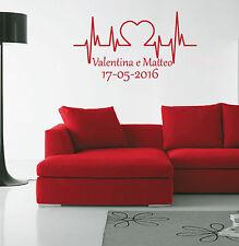wall stickers adesivo regalo san valentino cuore amore love nomi e data