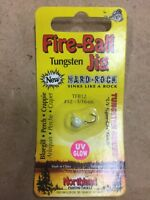 5298 Northland Fire-Ball Jig TFB12-13 UV Glow White Tungsten 1/16oz
