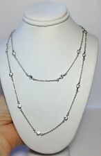 "New 40""  ""Diamonds by the Yard"" Crystal Sterling Silver 925 Necklace Chain"