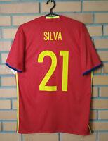 Silva Spain Jersey 2015 2016 Home M Shirt Adidas AI4411 Football Soccer Trikot