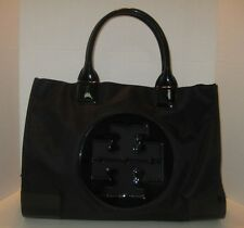 TORY BURCH LARGE ELLA NYLON TOTE BLACK/ BLACK