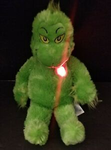 """Build a Bear The Grinch Who Stole Christmas 20"""" Plush with Light Up 3X Heart"""