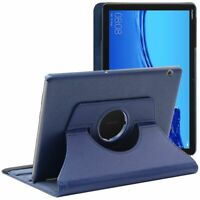 ebeststar Coque Huawei MediaPad T5 10.1 Housse Etui Rotatif PU Cuir, Bleu Foncé