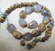 Natural Blue Chalcedony Nuggets, large and small