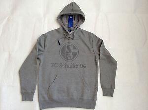 "S04 FC Schalke 04 Kinder - Kapuzen - Sweat-Shirt ""Basic Grau"" Gr. 140"