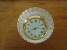 Lead Crystal Clock Golf Ball Quartz 24% Glass