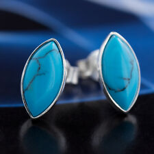 Turquoise Silver 925 Earrings Ladies Jewellery Sterling Silver S103