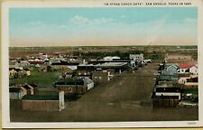 In Stage Coach Days Dirt Road Street View San Angelo TX Postcard C9