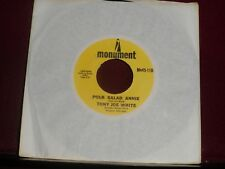 "TONY JOE WHITE ""Polk Salad Annie"" Monument Mn45-1104"