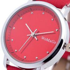 Fashion Red Lady Women Luxury Sport Quartz Wrist Watch Odm Analog Dial Design 48