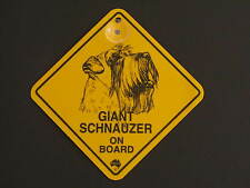 Giant Schnauzer On Board Dog Breed Yellow Car Swing Sign Gift