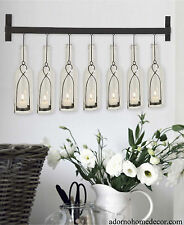 Modern Bottle Wall Sconce Rustic Vintage Cottage Chic Unique Candle Holder Decor