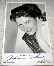 Vintage Signed Movie Actress Postcard - Hannerl Matz
