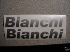BIANCHI BIKE DECALS,,SILVER GRAY  VINAL QUALITY BICYCLE