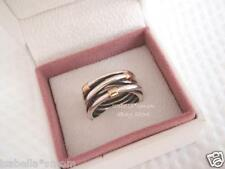 SILVER ROPE Authentic PANDORA Sterling Silver/14K GOLD Wrap RING Sz 6/52 NEW
