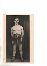 Jackie Paterson Scottish World Champion Flyweight Boxer RP Postcard Signed