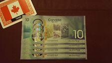 1x NUOVO RARO 2017 Canada 150th dieci dollari nota $10 ** molto basso prefisso ** CDC 00073 **