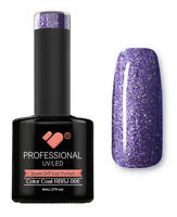 RBBJ-006 VB™ Line Rainbow Purple Glitter - UV/LED soak off gel nail polish