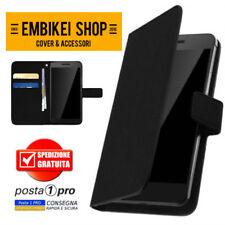 Custodia Cover Portafoglio Nera per Samsung Galaxy A6 PLUS Chiusura Magnetica