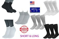 1 3 6 12 24 Pairs Men's Circulatory Diabetic Crew Socks Size US 9-11 10-13 13-15