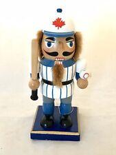 New Canadian Baseball Player Wooden Nutcracker Christmas Decor Whimsical