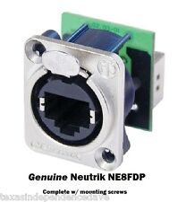 Neutrik NE8FDP Ethercon RJ45 Feed Through D-Series Panel Mount Jack Pass Through