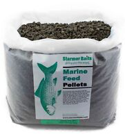 Mixed HALIBUT marine high feed pellets for carp & coarse fishing 12.75kg 2,5&8mm