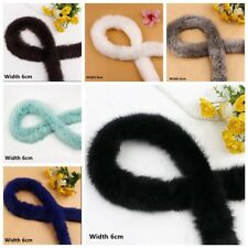 Rabbit Fur Trim Trimming 1 Meter Artificial Tapes Fluffy Sewing Costume Crafts