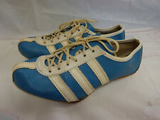 True Vintage 70's Adidas Avanti Track Shoes Size 4 Blue & White Made in France