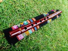 NATIVE AMERICAN STYLE FLUTE RAMOS QUENA KEY IN (G) &TEXTILE BAG Tunning: G (Sol