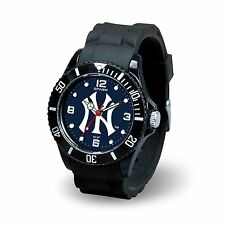 New York Yankees MLB Baseball Team Men's Black Sparo Spirit Watch
