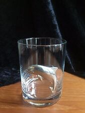 Dolphin Pewter 12 oz ON THE ROCKS Tumbler Glass by Maurice Milleur