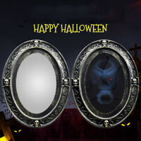 Haunted Skull Magic Mirror Halloween Decorations For Home Wall Scary Bar Props S