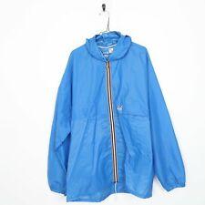 K-WAY Hooded Anorak Jacket Blue | XL | Grade B