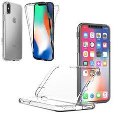 PREMIUM Apple iPhone X XS TPU 360 FULLBODY Rundum Case Transparent Cover Hülle