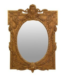 French 18th Century Antique , Wood ,24k Gold Leaf,Hand Carved, Wall Mirror