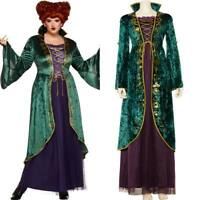 Hocus Pocus Inspired Witch Dress /& Wig Winifred Bossy Women/'s Costume SM-XL