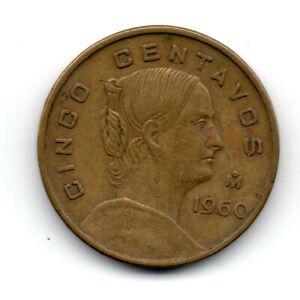Estados Unidos Mexicanos 1960, Josefa Ortiz de Dominguez, 5 cents