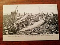 French Destroyer Fronde damaged Hong Kong Typhoon 1906 PostCard #14 UNUSED
