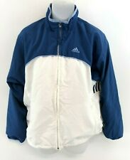 ADIDAS Womens Tracksuit Top Track Jacket 8 Blue White Polyester
