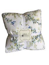 "April Cornell 2 20""X 20"" Pillows Down Alternative Yellows, & Blue Green Floral"