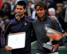 Novak Djokovic and Rafael Nadal UNSIGNED photo - E108