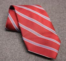CLASSIC TRAD! BROOKS BROTHERS 100% SILK RED BLUE STRIPED NECK TIE MADE IN USA