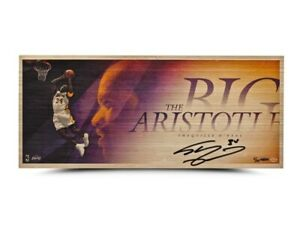 """Shaquille O'Neal Signed Autographed 26X11 Bamboo Print """"Big Artistotle"""" #/34 UDA"""