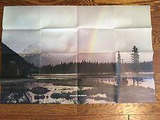 Do Not Disturb Peaceful Landscape Rainbow Folded Poster 1972 Vintage