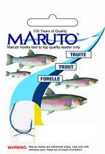Maruto Angelhaken Forelle gebunden Gr. 10 0,20mm 4,1kg 10St Forellenhaken Haken