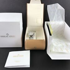 PHILLIP STEIN Signature Collection Women's Watch Stainless Dual Time White Dial