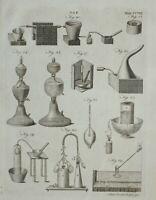 1797 Originale Stampa Gas Varie Apparato Attrezzatura