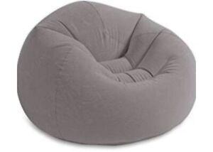 Intex Grey Corduroy Inflatable Beanless Bag Chair