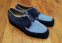 Vintage Hush Puppies, Blue two-toned suede, Men's US 7.5M, RARE